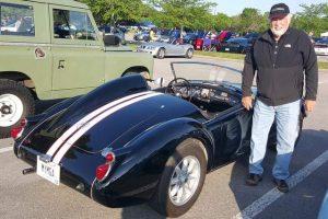 Carl George's racing MGA
